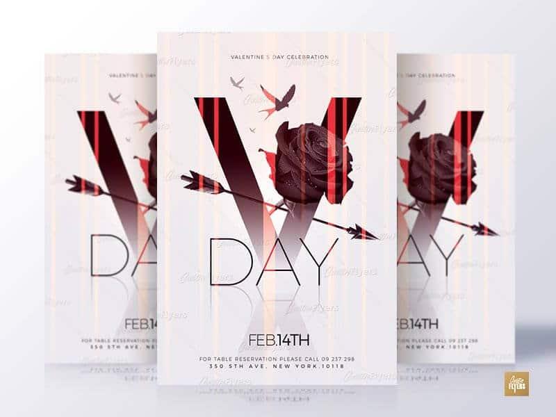 Minimalist Valentines Day Flyer Psd