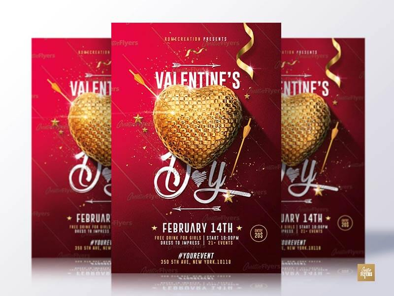 Valentine's Day Flyer Templates Psd