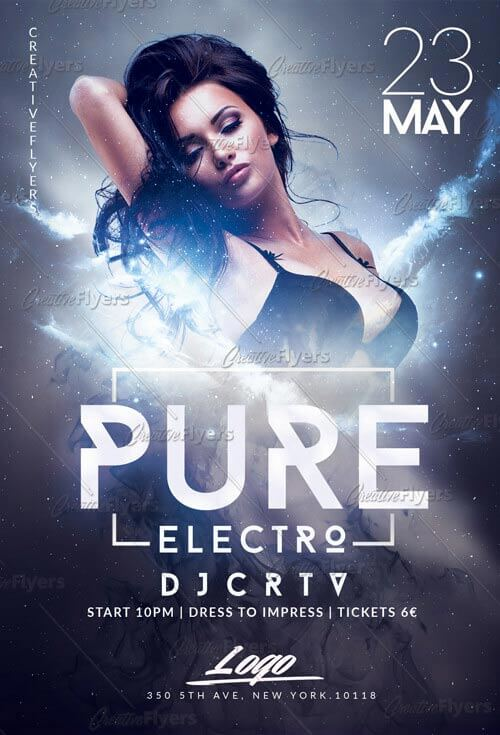 Electro Party Flyer Templates