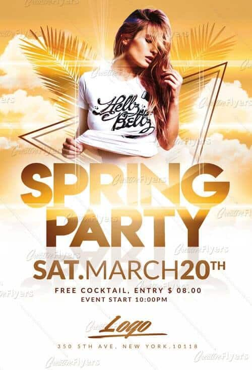 Download Spring Party Flyer Templates Creative Flyers