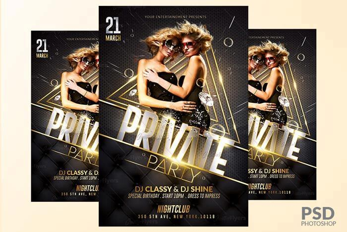 Private party flyer - creative flyers