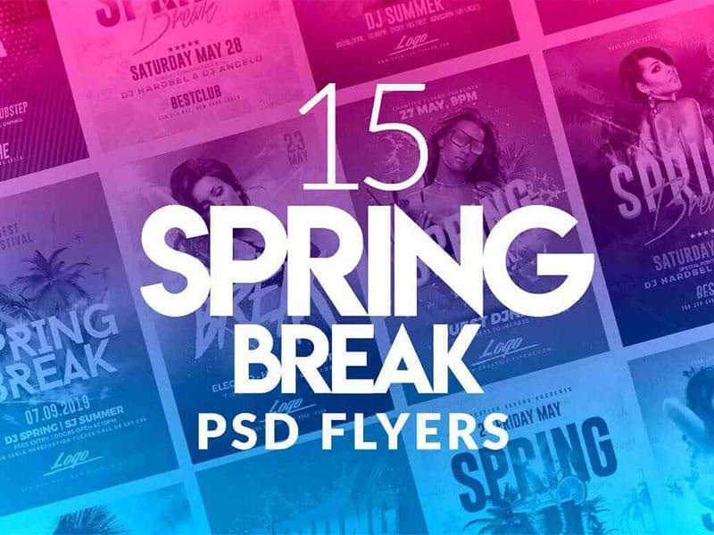 Best Spring Break Flyer Psd