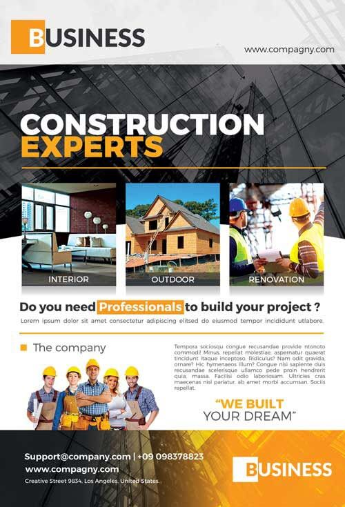 Construction Flyer Templates Psd