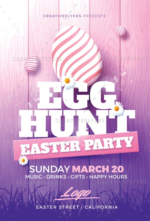 Easter Party Flyer Psd Templates  Creative Flyers