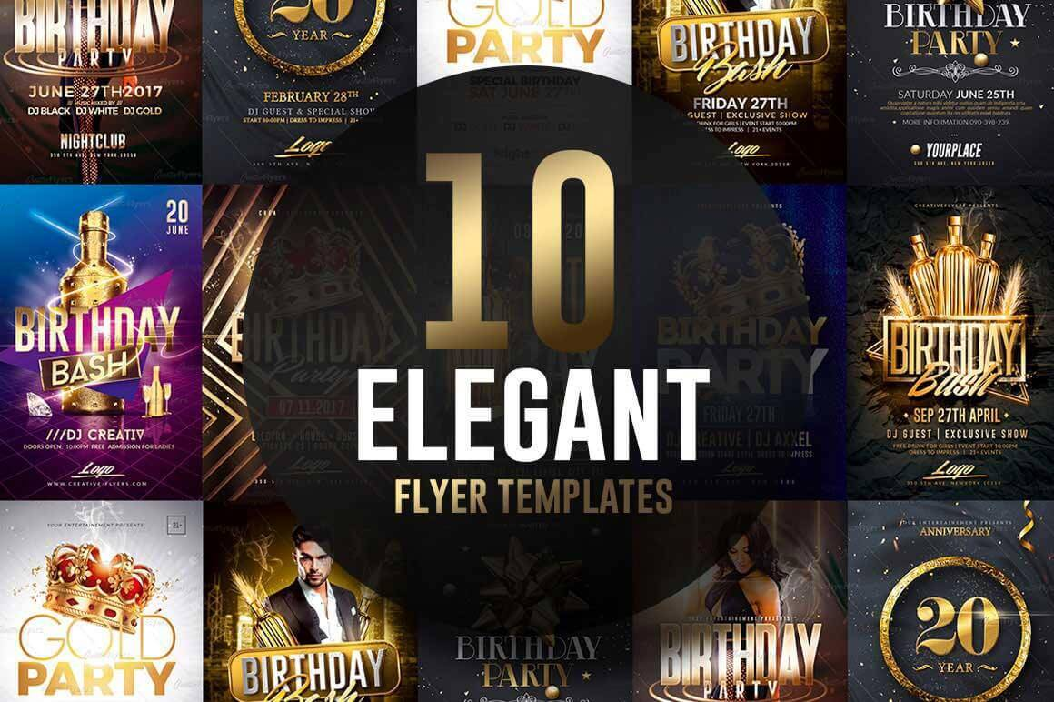 Elegant Birthday flyer Templates