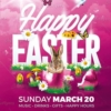 Happy Easter Flyer Psd