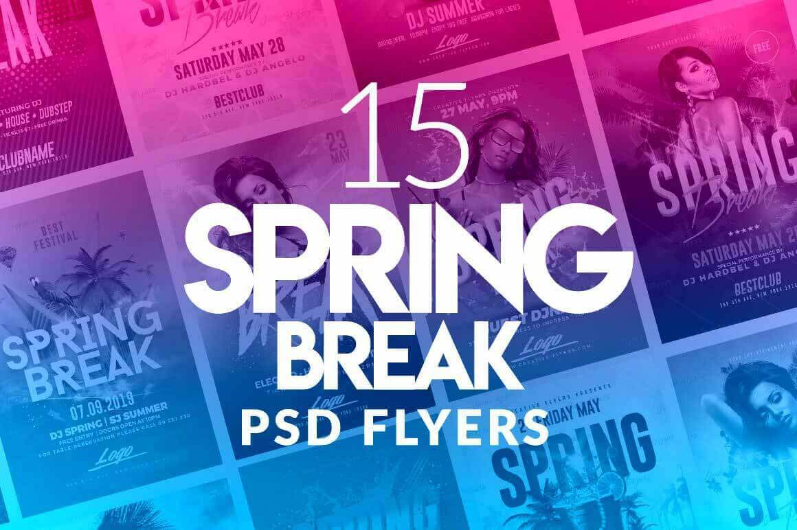 download 15 best spring break flyer psd creativeflyers
