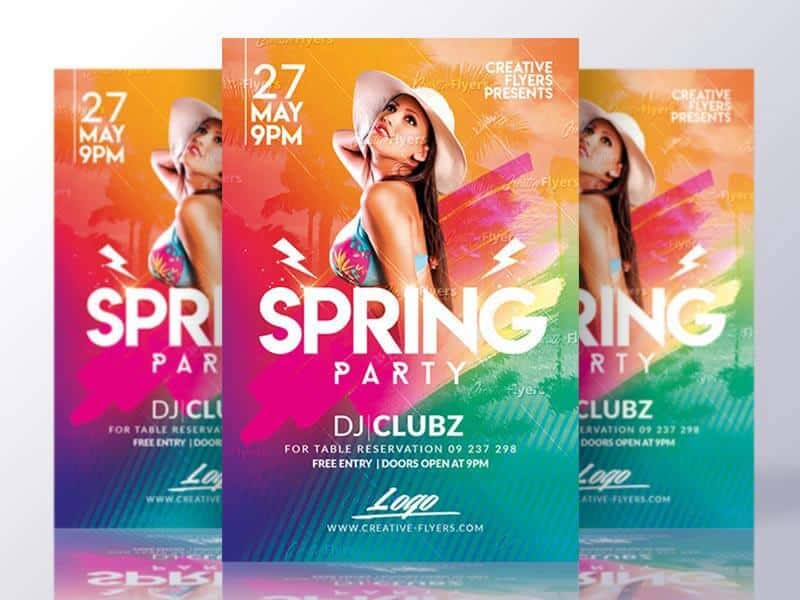 Spring Break Flyer Psd