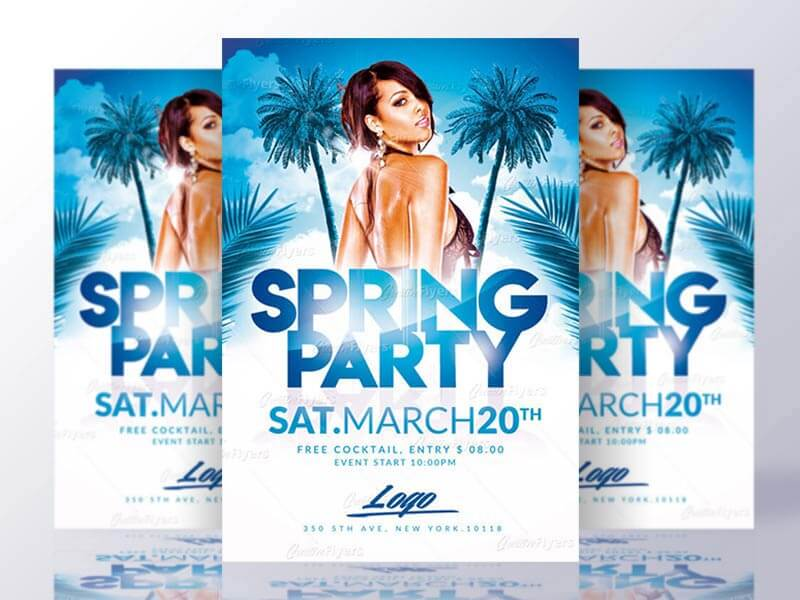 Spring Flyer Psd Template