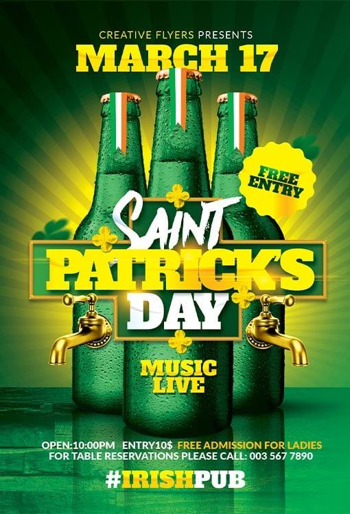 St Patricks Flyer Templates Psd