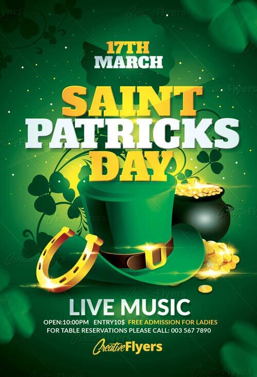 St Patrick's Day Flyer Psd
