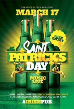 St Patricks Flyer Templates Psd