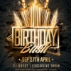 birthday bash flyer psd