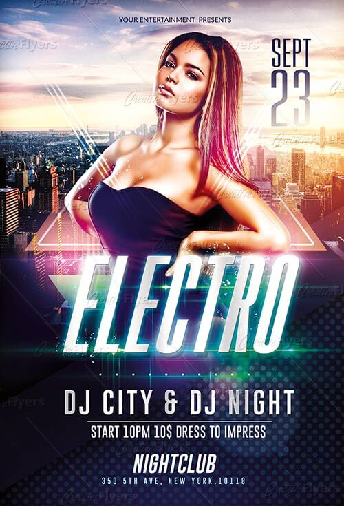 Club Electro Flyer Template Psd