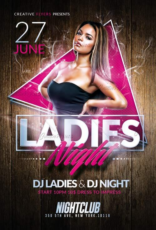 Ladies Night Flyer Templates Psd