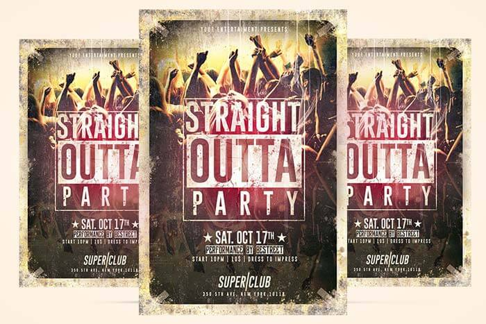Straight Outta Party Flyer - CreativeFlyers