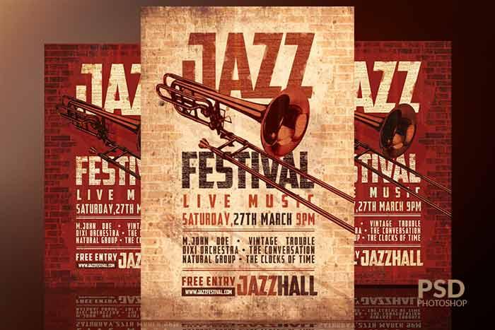 Jazz Festival Vintage Flyer