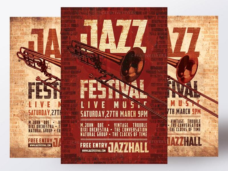 Jass festival flyer template