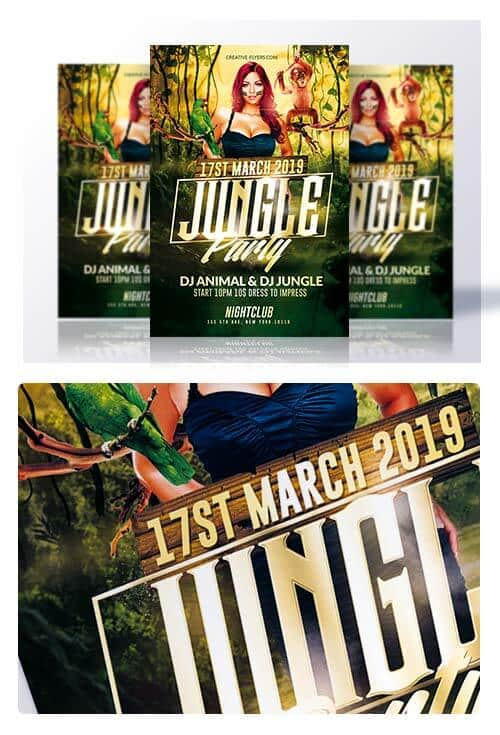 Download Jungle Psd Flyer Template Creativeflyers