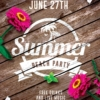 Summer Invitation Flyer Template