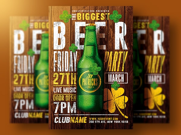 patricks day flyer Psd