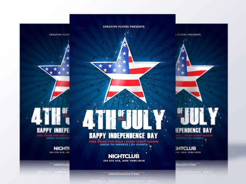 Independence Day  Th Of July Flyers Psd  Creativeflyers
