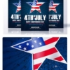 4th of july Flyers Psd