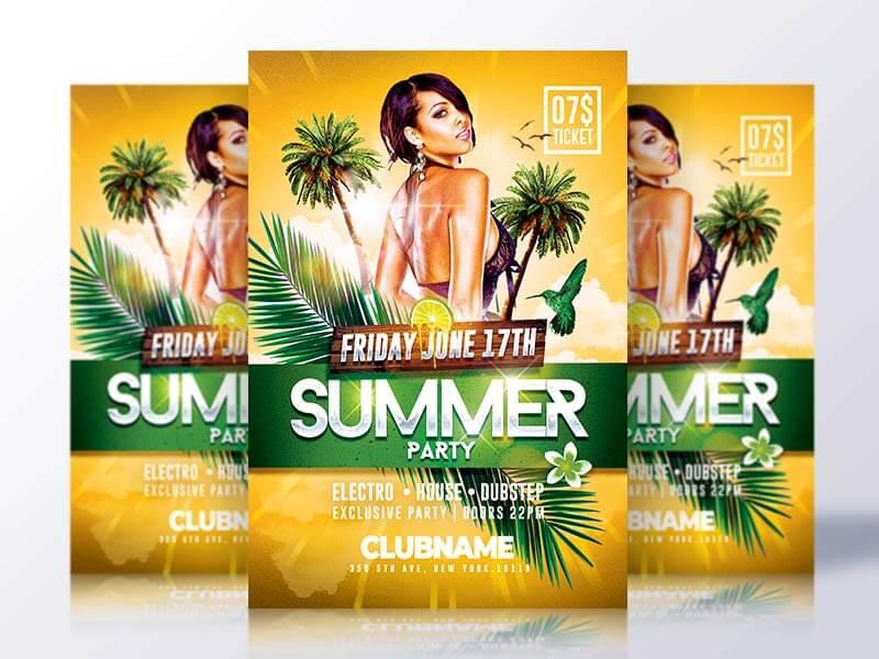 Summer Psd Flyer Template - CreativeFlyers