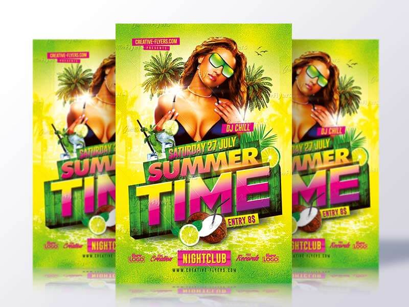 Summer Time Flyer Psd - Creative Flyers