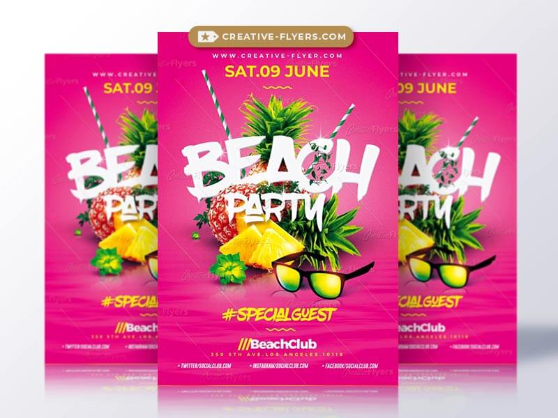 beach party flyer psd - creativeflyers