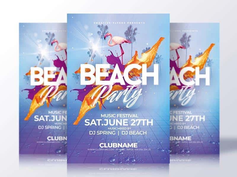 Beach Party Flyer Psd Template