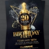 Elegant Birthday Flyer Psd