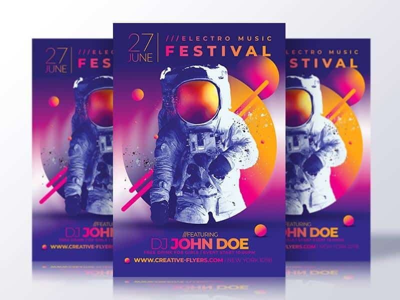 Music Festival Flyer Psd Template