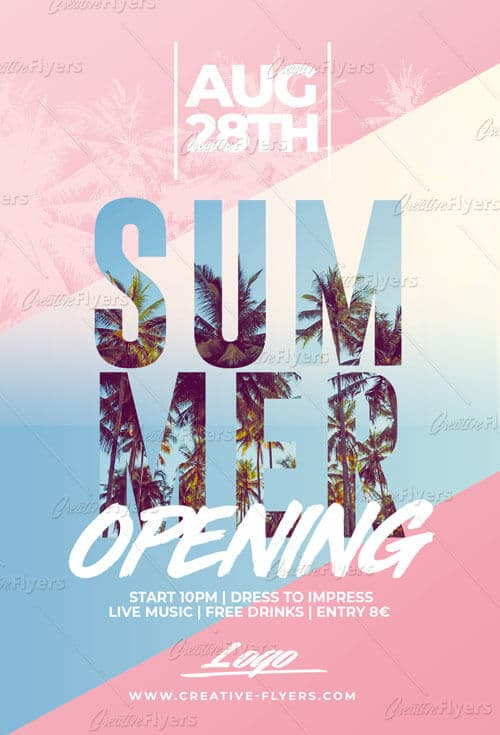 Summer Opening Flyer Templates