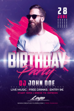 Club Birthday flyer templates