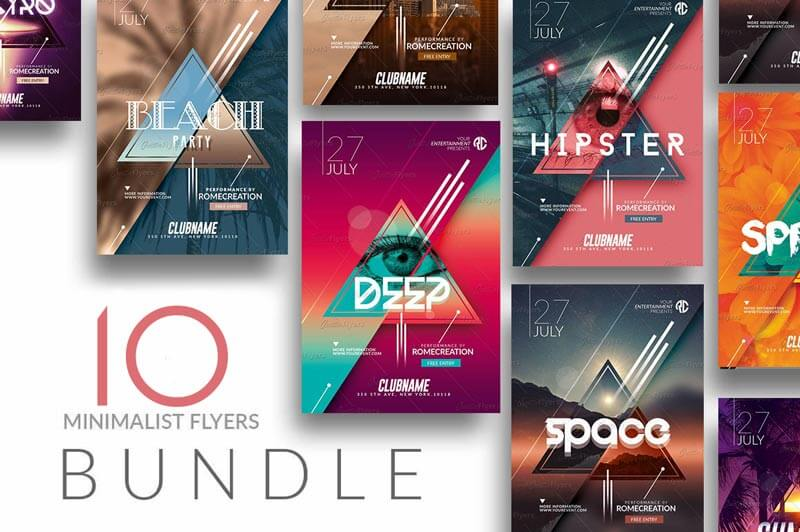 10 flyer Templates Psd