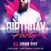 Club Birthday flyer template