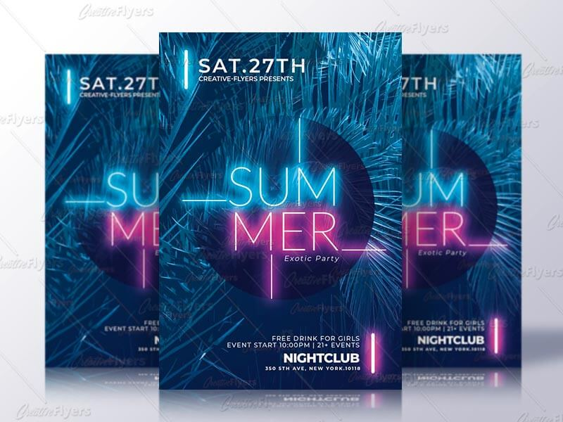 Creative summer flyer template