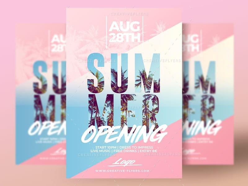 Summer Opening Flyer