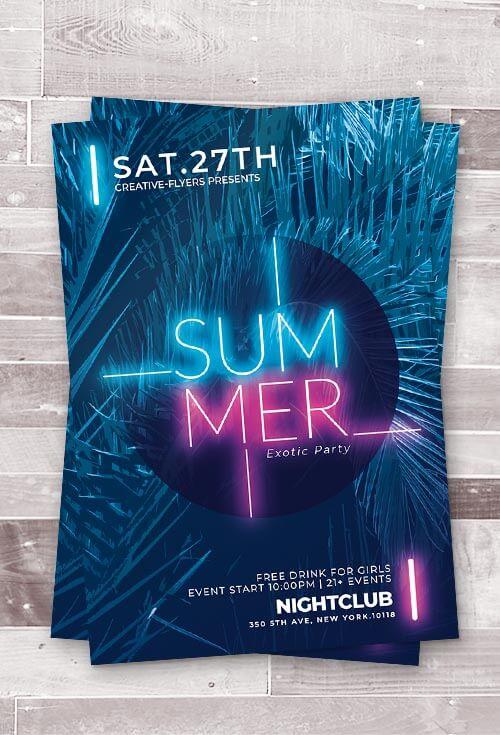creative summer flyer template psd creativeflyers