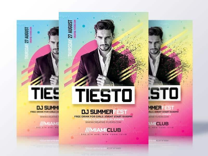 Summer club party flyer