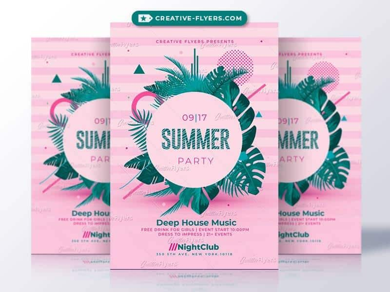 Summer Invitation Flyer Psd - CreativeFlyers