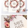 Wedding Invitation psd Template