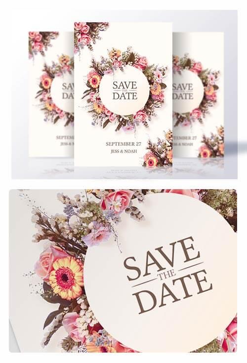 Wedding Invitation | Psd Template - CreativeFlyers