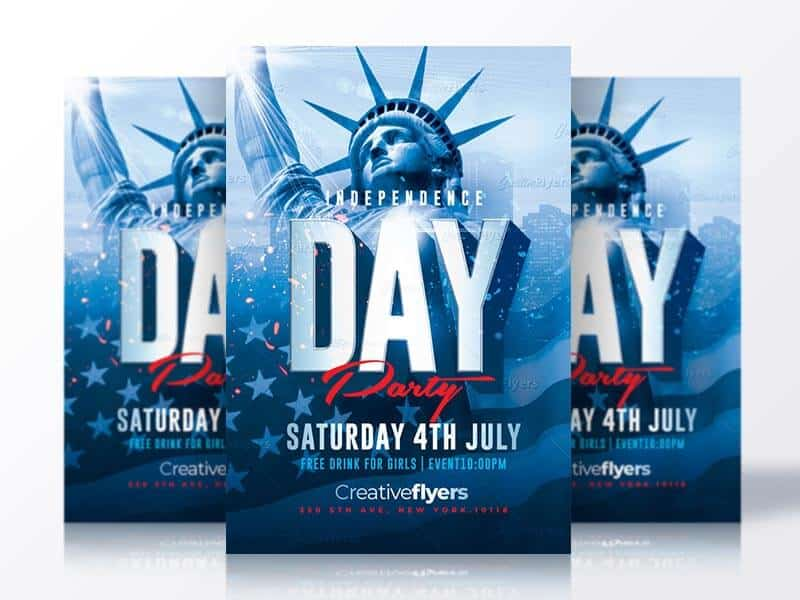 ndependence Day Flyer Psd
