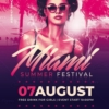Miami Summer Festival flyer template