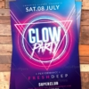 creative glow flyer psd
