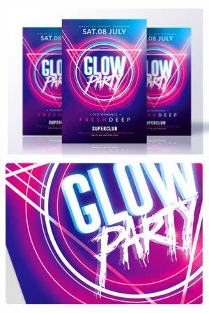 creative glow flyer psd