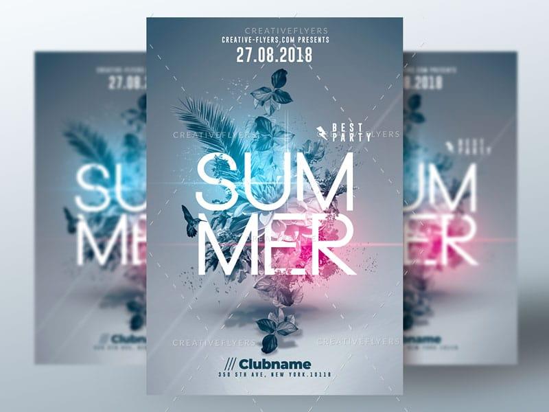 Summer Flyer Psd Template