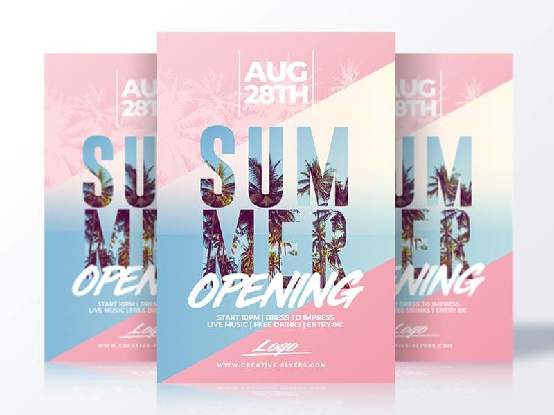 Summer Opening Flyer template